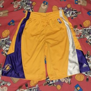 2008 Los Angeles Lakers Jersey Shorts Vintage NBA
